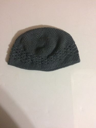 crochet beanie unisex gray(large) available  for 9.99pre-owned