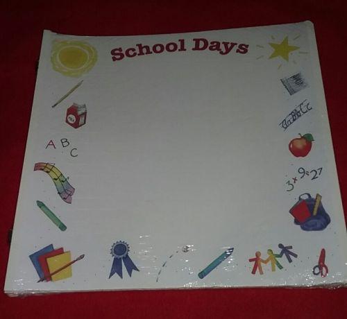 Creative Memories School Days Scrapbook Pages 12 x 12 New Sealed Original Refill