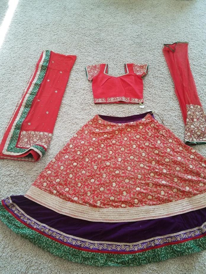 Lehnga Wedding outfit with heavy work