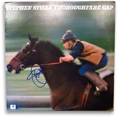 Stephen Stills Signed Autographed Album Cover Thoroughfare Gap GV865036