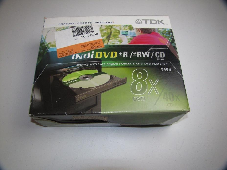 indiDVD + - R/ + - RW/ CD Burner - 840 G - 8X DVD - 40X CD