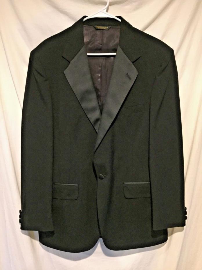 Men's 41 Regular Black One Button Tuxedo Jacket 41R Burton Evening Elite