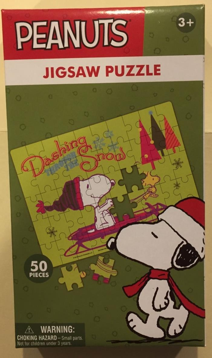 Peanuts Snoopy & Woodstock 50 Piece Holiday Jigsaw Puzzle New Free Ship