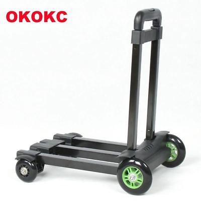 OKOKC Travel Luggage Cart Folding Hand Carts Trolley Small Car Toweres 4 Wheel M