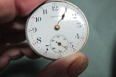 Vintage Normal Swiss Pocket Watch Works only for repair or parts
