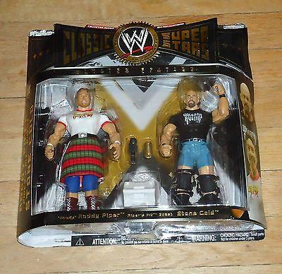 2005 WWF WWE Jakks Stone Cold Steve Austin Roddy Piper Classic Wrestling Figures