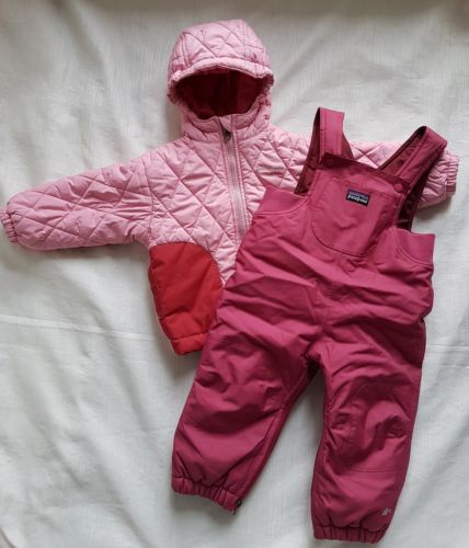 Patagonia Baby Puff Rider Winter Jacket and Snow Pants 6/12mo infant