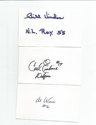 mead INDEX CARD-3X5-BASEBALL-auto-SIGNED al WEIS ny METS basball TEAM+ 1969