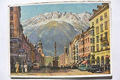 Postcard Maria Theresien Street Innsbruck Austria Posted