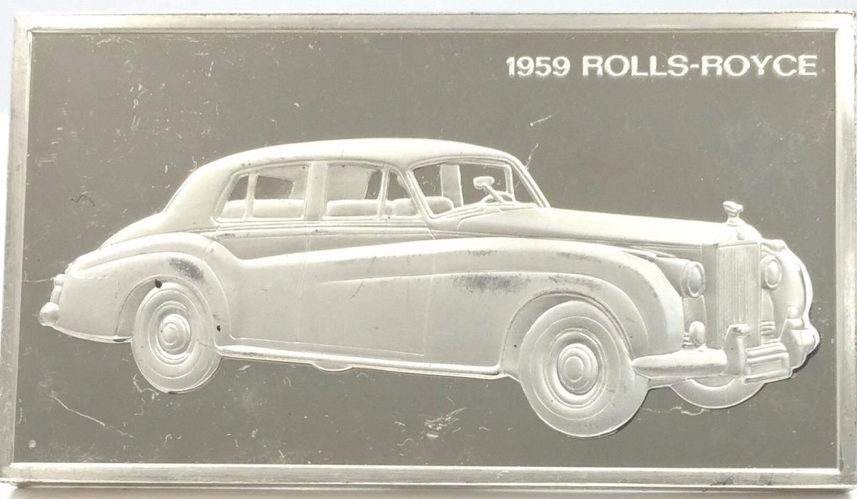 1959 Rolls-Royce Automobile Franklin 1000 Grains/2.08 Ozt Silver Art Bar
