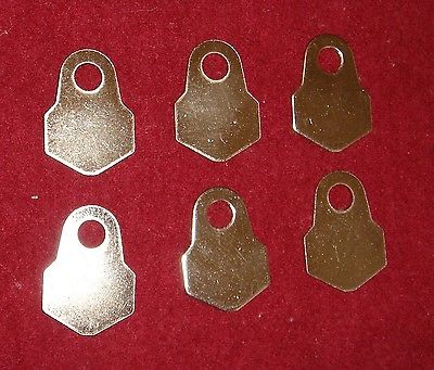 NICKEL PLATED GUIDE TONGUES - LOT OF SIX