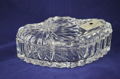 Crystal Candy Trinket Covered Dish Studio Nova Cut