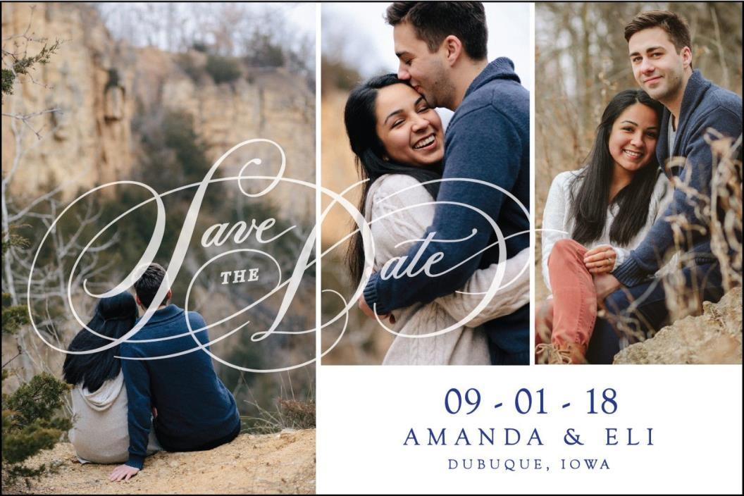 Save The Date MAGNETS with Envelopes, Personalized with Photos. 50 Qty.
