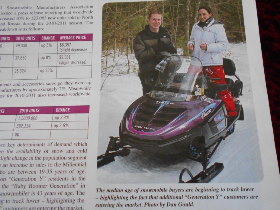 2011 Massachusetts SNOWMOBILE MAGAZINE Vintage Polaris Indy Classic Trail 500