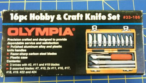 OLYMPIA 16 pc Hobby & Craft