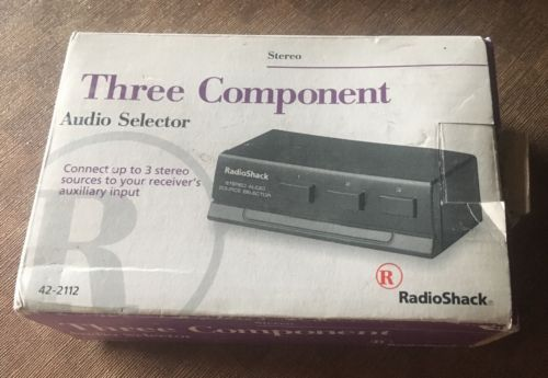 RADIO SHACK STEREO THREE COMPONENT AUDIO SELECTOR 42-2112 Brand New