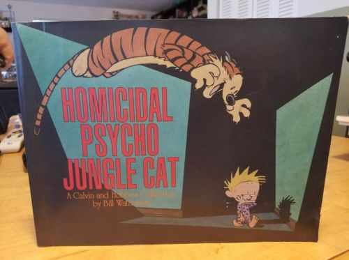 Softcover Book Homicidal Psycho Jungle Cat Calvin Hobbes Collection Watterson