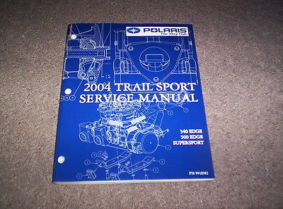 2004 Polaris Snowmobile Trail Sport Shop Repair Service Manual W/ CD 9918582