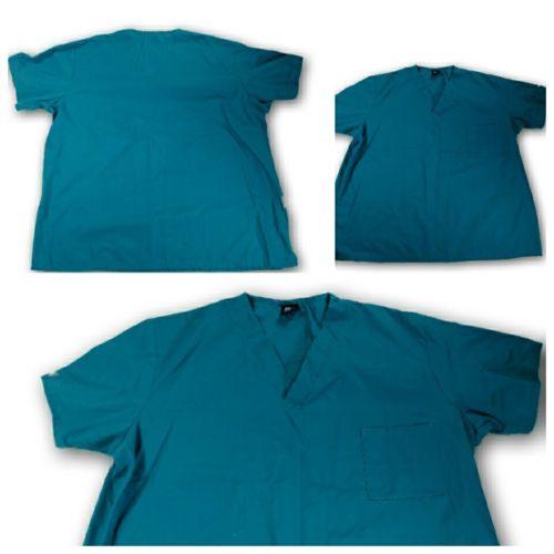 MedGear Scrub top bold Blue Size 2xl nurse uniform