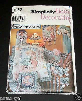 NEW SIMPLICITY HOME DAISY KINGDOM NURSERY Accessories Uncut Pattern 8115
