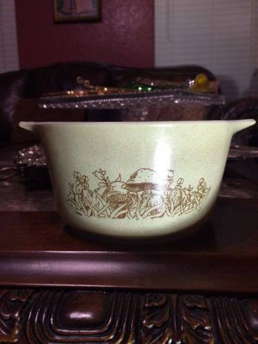 Pyrex Vintage Forest Fancies Small Casserole Dish