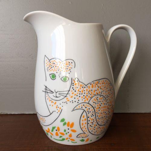 Cats Meow Gloria Vanderbilt Taste Setter By Sigma 32oz Pitcher Japan Vtg 80s