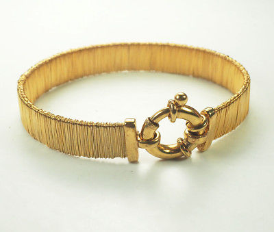 Amazing gold plated sterling silver designer flexible bracelet Italy V