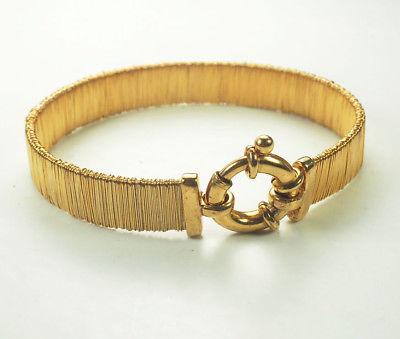 Amazing gold plated sterling silver designer flexible bracelet Italy V