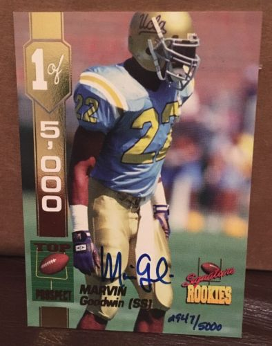 1994 Marvin Goodwin Signature Rookies Top Prospect autograph auto card 947/5000