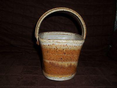 Vintage Brown Basket Pottery Marked