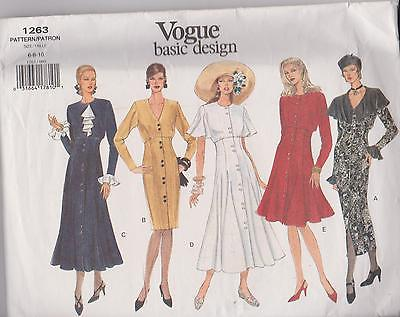 Vogue  Dress Sewing  Pattern Sz 6-8-10