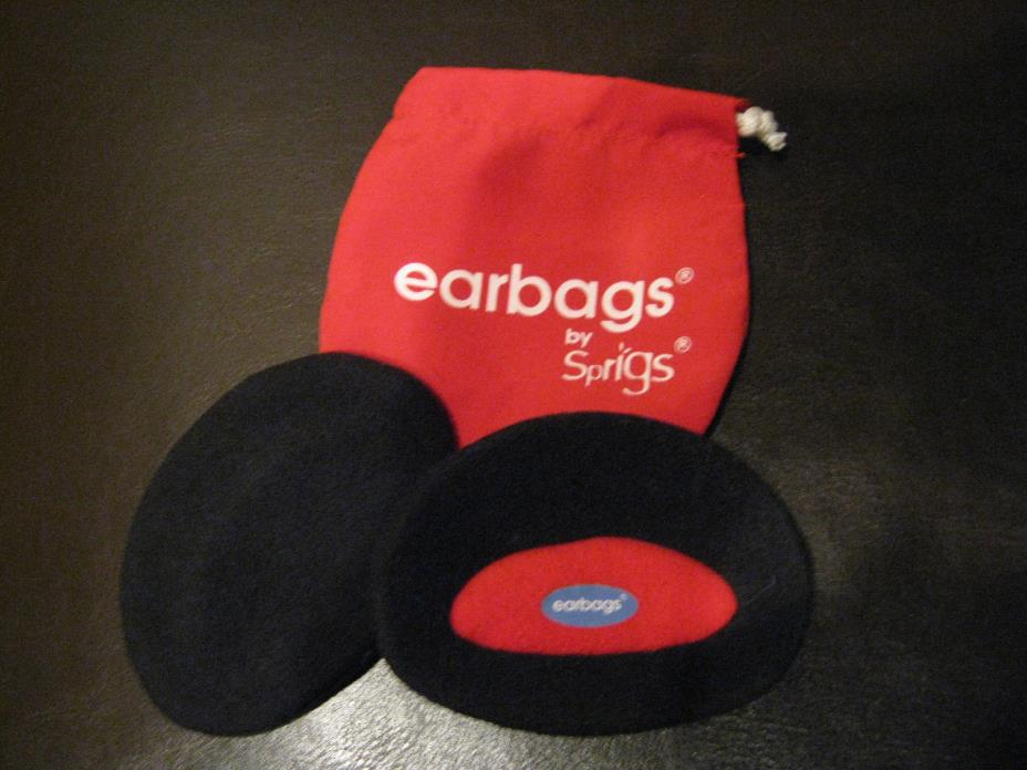 Sprigs Earbags Bandless Ear Warmers / Earmuffs with Thinsulate Black size Large