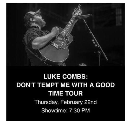 Luke Combs Sands Bethlehem Ticket - 2/22/18 - General Admission