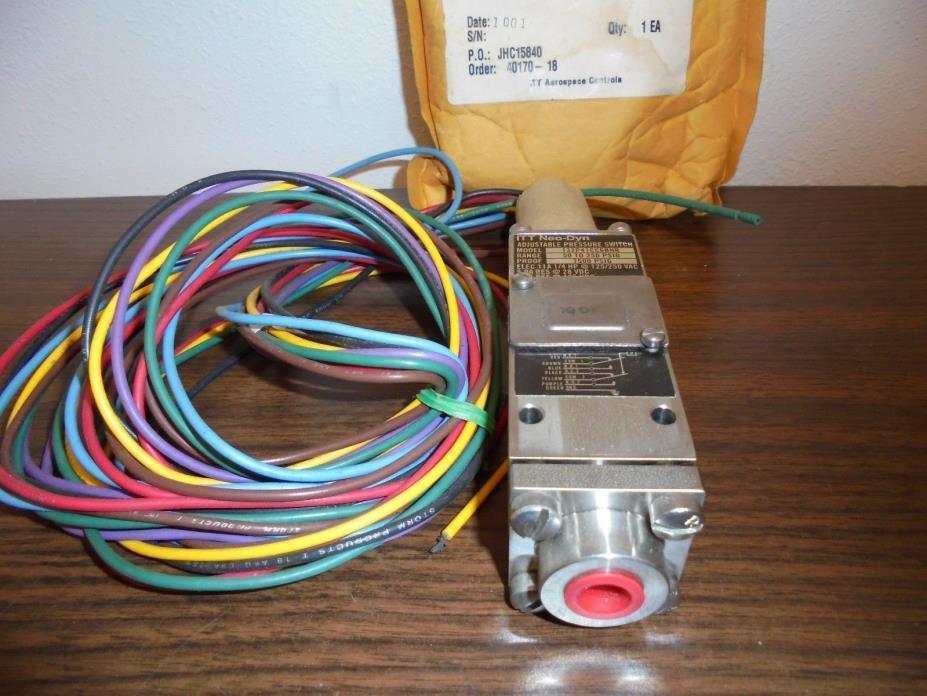 132P41CC6BHR ITT Neo-Dyn adj. pressure switch 50/250 psig