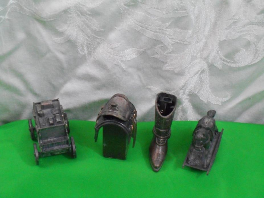 VINTAGE LOT OF  DIECAST COLLECTIBLE PENCIL SHARPENER DESKTOP ITEMS INSTRUMENTS