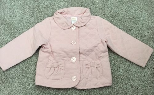 Gymboree Toddler Girls Lightweight Quilted Jacket, Size 18-24Mo, Light Pink
