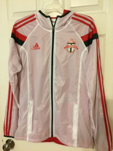 Toronto FC Warmup Jacket Adidas Player Worn Game Worn Medium Zip Hooded TFC MLS