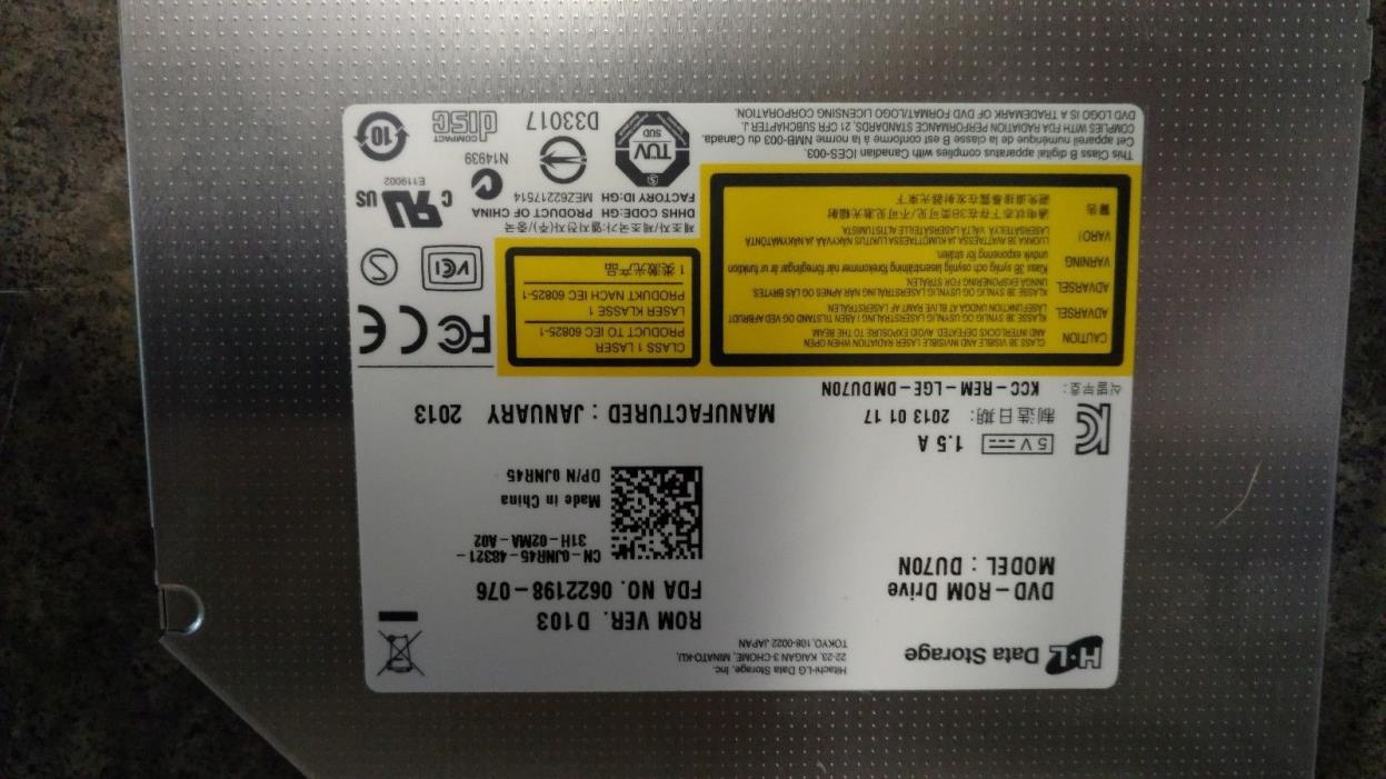 Dell M4700 DvDRom Drive With Bezel 0JNR45 JNR45 SATA Tested