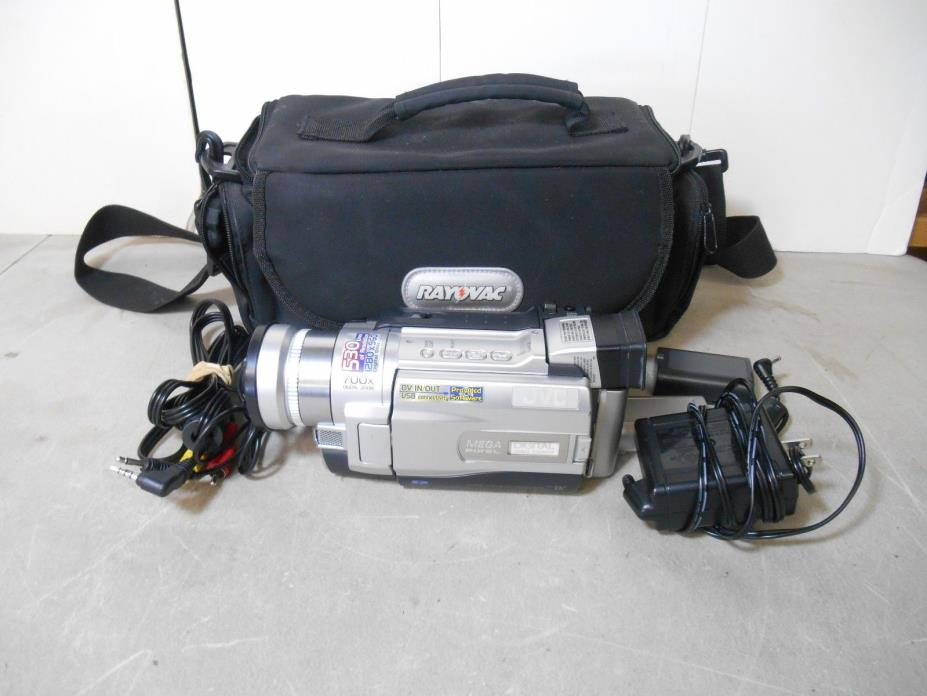 JVC Digital Video Camera Model GR-DVL820U with Bag- Untested No Charger
