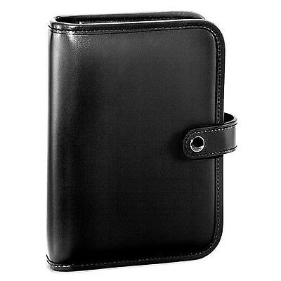 Jack Georges Milano Collection 6-ring organizer with snap closure Black 3047 BLK