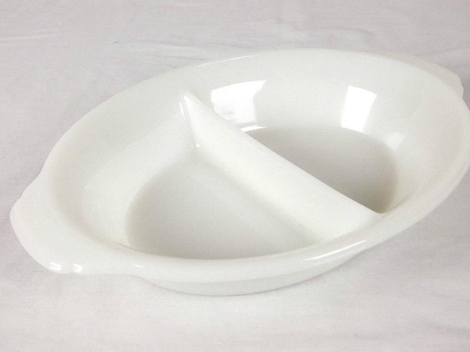 Fire King Divided Serving Dish 10