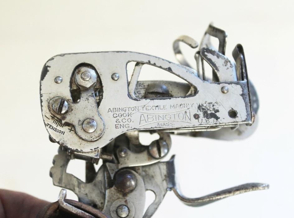 VINTAGE ABINGTON COOK MASS. WEAVER'S KNOTTER PRE-1935 PATENT 2071525