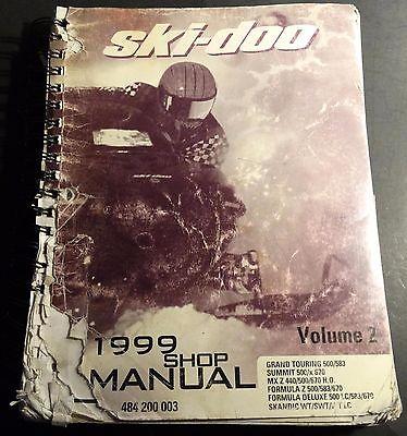 1999 SKI-DOO SNOWMOBILE SHOP MANUAL MX Z, FORMULA Z & MORE VOLUME 2 SERIES (504)