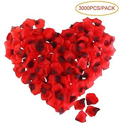 Artificial Home & Kitchen Features Flowers Rose Petal Roseleaf Wedding Day (Red