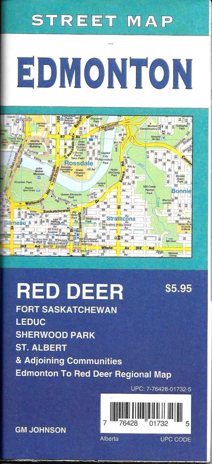 Street Map of Edmonton, Alberta, Canada, by GMJ Maps