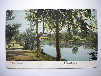 Postcard A Lake Scene M Rieder Publ 3503 Post Mark 1907