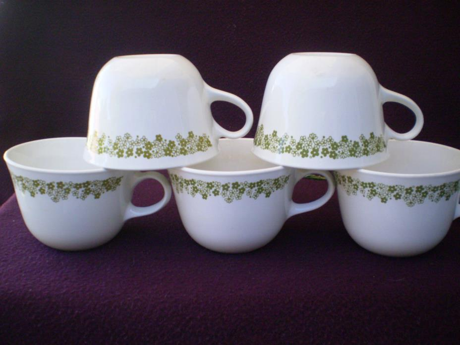 Corelle Dishes Spring Blossom Corning Centura Round Bottom Cups 5 Ct.