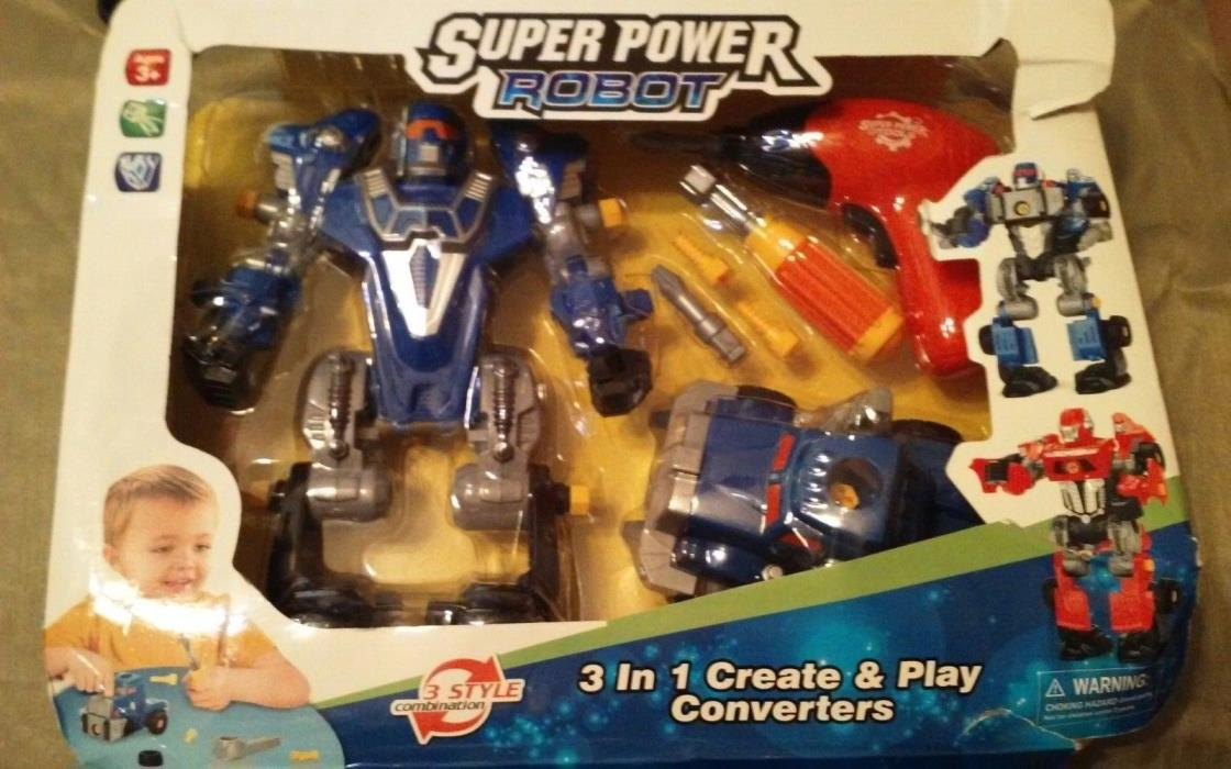 3 in 1 Super Power Droid Transforming Mega Robot Toy