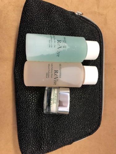 3pc Revive Gift Set Toner,gel Cleanser,neck Renewal Cream New With Bag Travel