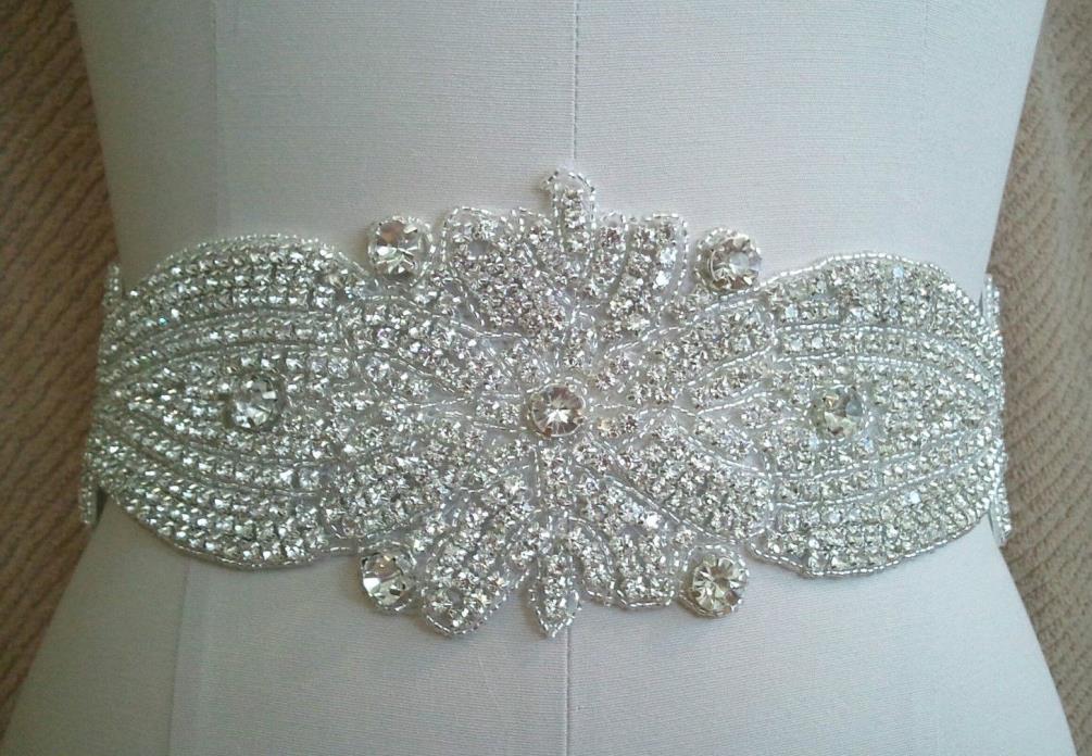 Wedding Bridal Sash Belt, Crystal Wedding Dress Sash Belt
